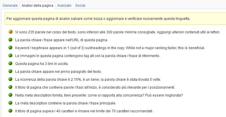 Consigli SEO WordPress