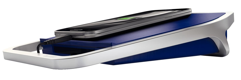 Caricatore da Tavolo con 2 Porte USB Blu_001